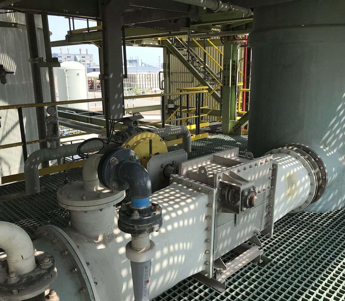 High energy venturi - flue gas