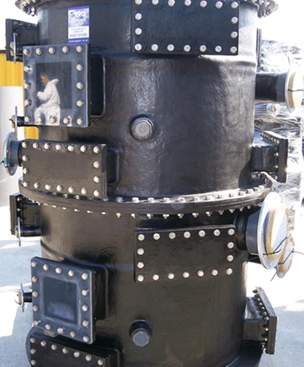 Optical Fibre V-tex scrubber