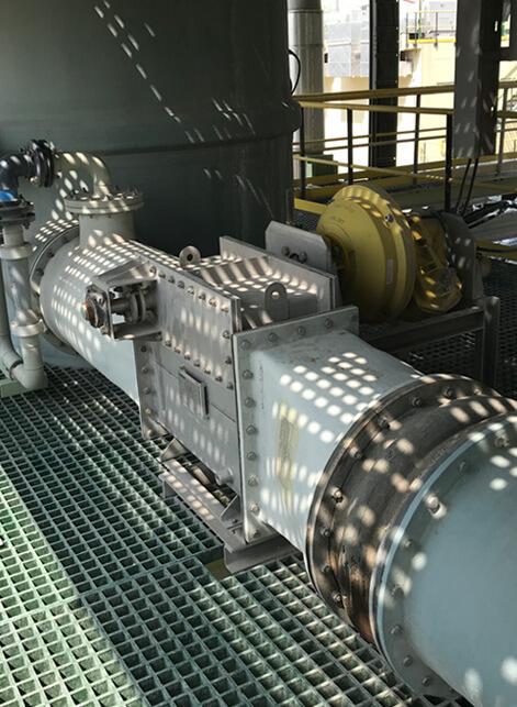 Flue gas high energy venturi